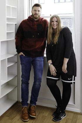 Rick Edwards and Astrid Andersen
