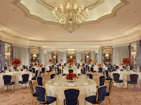 The Dorchester ballroom.