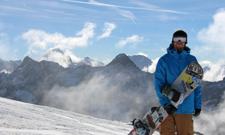 Olympic snowboarder Dom Harington on Morzine, France