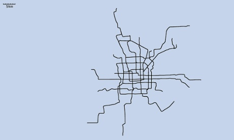 Can you identify the world cities from their 'naked' metro maps?