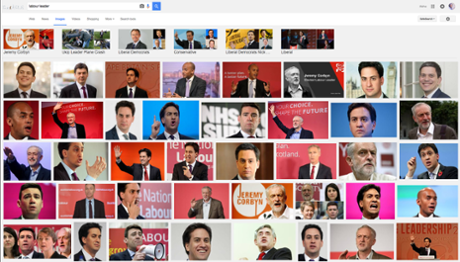 What Google Images returns on a search for 'Labour leader'.