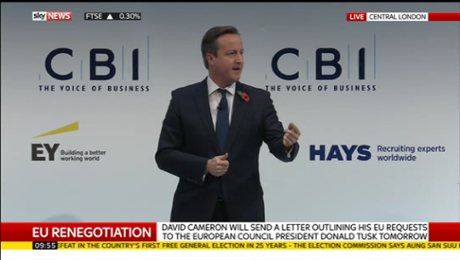 David Cameron at the CBI