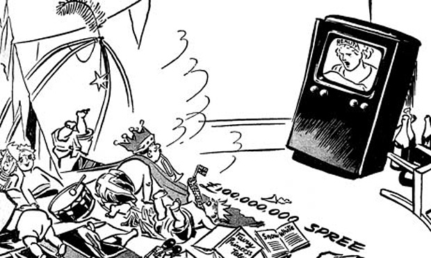 David Low's cartoon Morning After, published in the Guardian on 3 June 1953