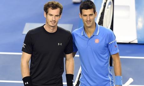 Australian Open men's final: Andy Murray v Novak Djokovic – in pictures