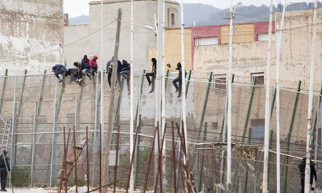 Morocco destroys migrant camps near border with Spanish enclave