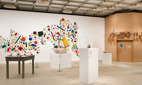 'A country on its back': Tony Cragg's mural, featured in Richard Wentworth's curated section.