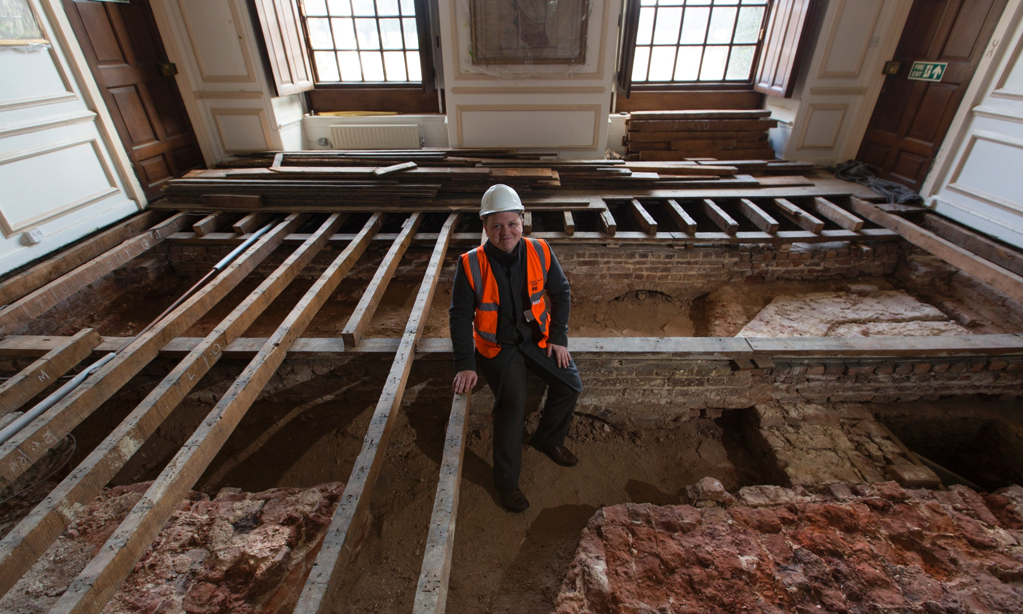 Hampton Courts Lost Apartment Foundations Uncovered