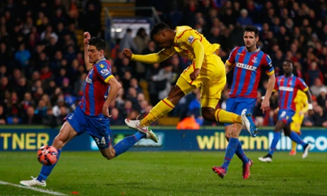 Daniel Sturridge smashes home the equaliser from Henderson's cross.