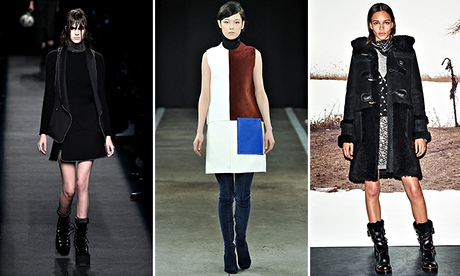 Stompy boots and hat hair are in, necks are out – eight things we learned from New York fashion week