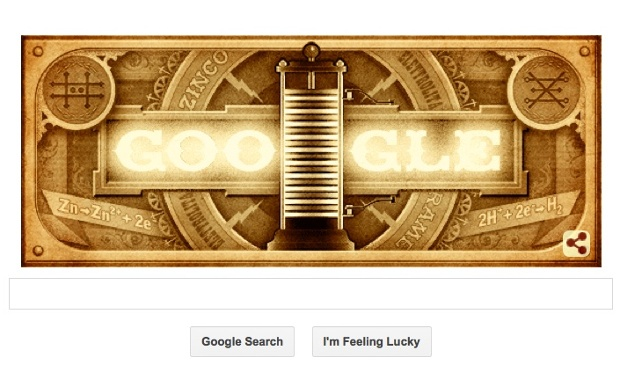 New Google Doodle Honors Alessandro Volta, Forefather of the Modern Battery