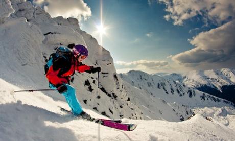 Skiing in the Tatra mountains, Slovakia