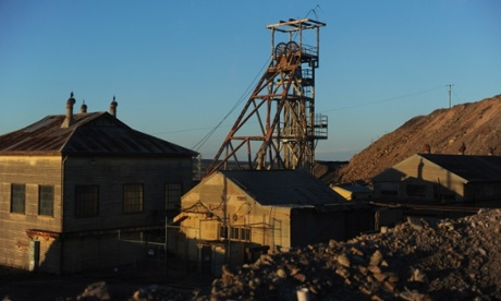An old mine in the outback town of Broken Hill.