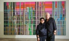 Mera and Don Rubell stand before Liberation No. 1,