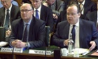 Douglas Flint and Stuart Gulliver appear before the Treasury select committee.