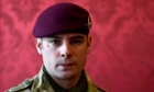 Lance Corporal Joshua Leakey of the Parachute Regiment