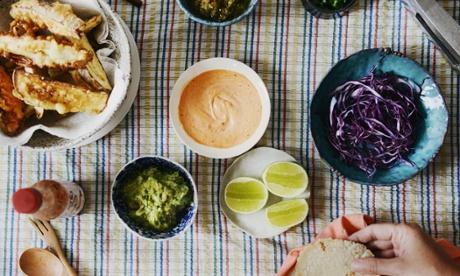 Season's eating: tempura eggplant tacos recipe
