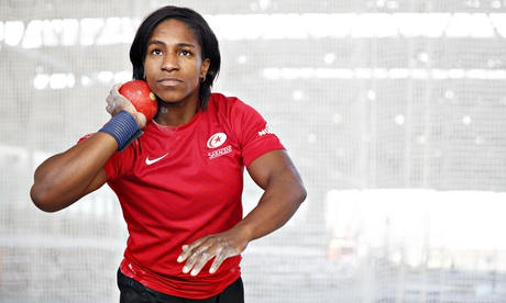 England rugby union star Maggie Alphonsi taking a shot at Olympic gold
