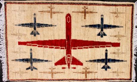 Drones, AK-47s and grenades: Afghan war rugs