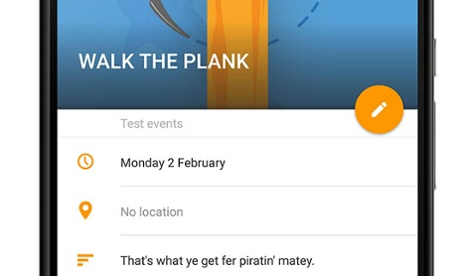 Calendar app inserts 'pirate' events into diaries of users who haven't paid