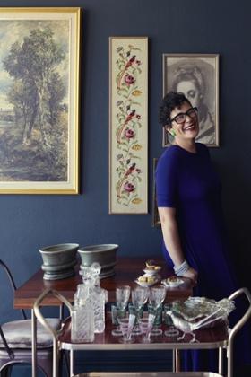 Karen Dudley in her new restaurant, the Dining Room