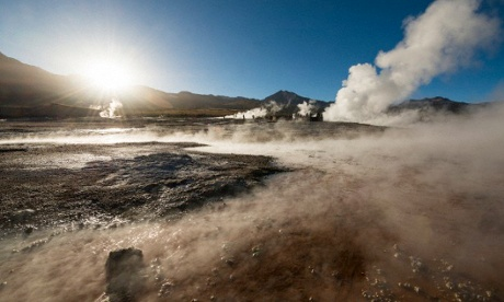The geysers at El Tatio, Atacama desert, Chile
