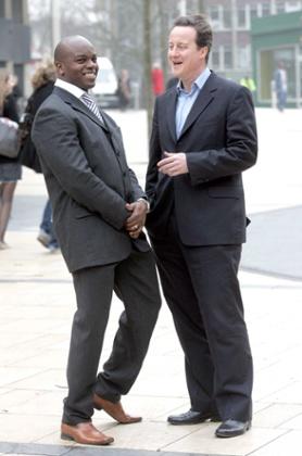 David Cameron with Shaun Bailey.