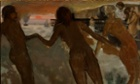 Peasant Girls Bathing in the Sea by Edgar Degas - part of the Inventing Impressionism exhibition.
