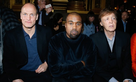 Fashionable friends: Kanye West's celebrity front row neighbours – in pictures