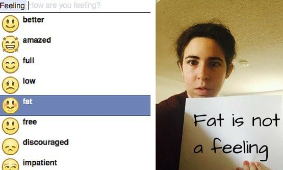 Facebook removes 'feeling fat' status option and emoji after campaign