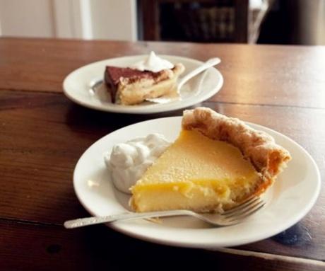 Two varieties of pie at Four & Twenty Blackbirds