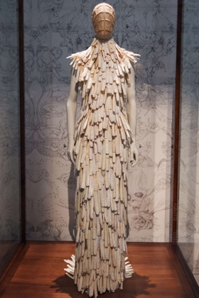 A razor clam shell-encrusted dress from the Voss Spring/Summer 2001 collection.