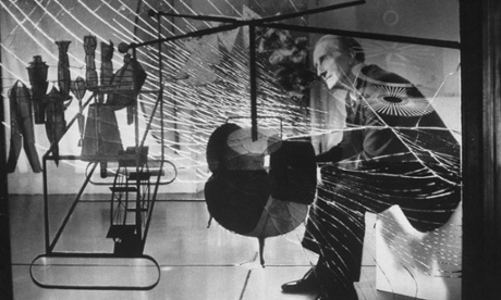 Marcel Duchamp with The Bride Stripped Bare by Her Bachelors.