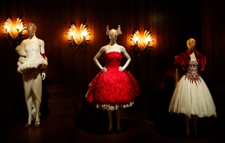 Dresses from McQueen's The Girl Who Lived in the Tree autumn/winter 2008 collection.
