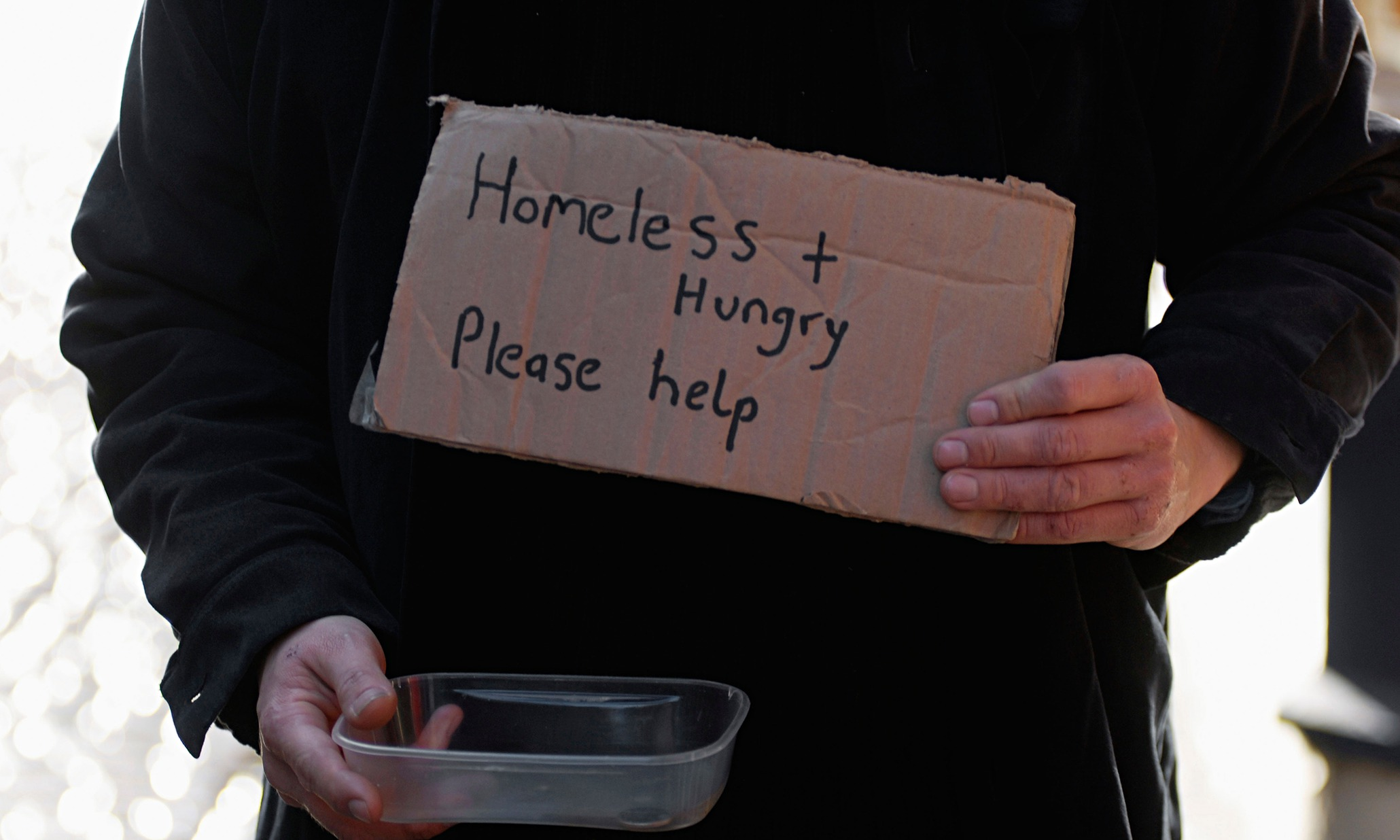 Homeless and an alcoho...