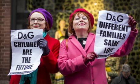 Dolce & Gabbana protesters demand boycott outside London shop