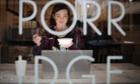 Holly Mac eats a bowl of porridge at the Porridge Cafe in Shoreditch.