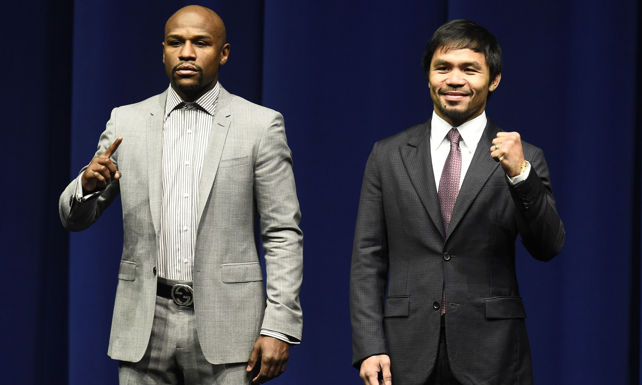 Manny Pacquiao v Floyd Mayweather: fighters clash over drugs testing