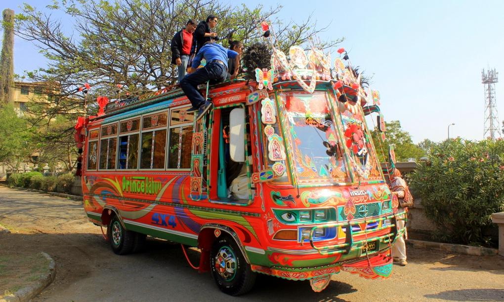 All aboard the Super Savari Express: an armed tour bus for crime-ridden Karachi