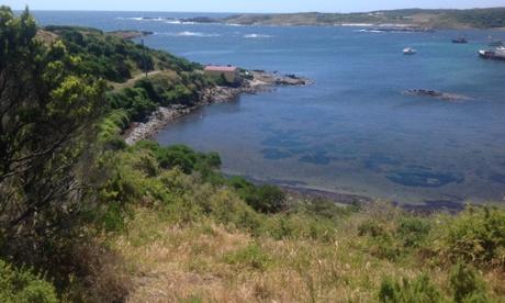 The rugged, windswept coast of King Island.