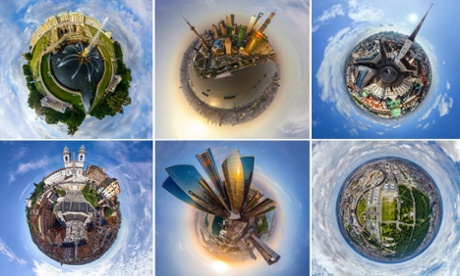 World city panoramas transformed into 360-degree globes – in pictures