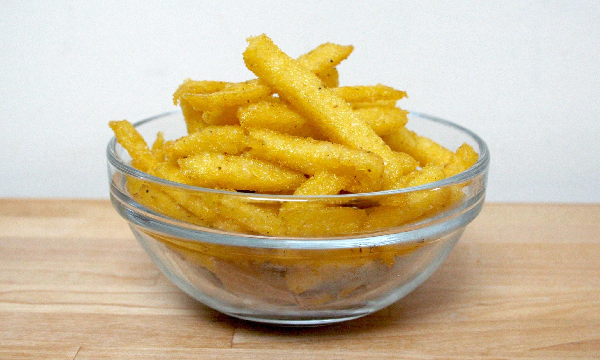 how to make polenta chips uk