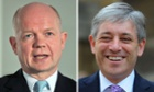 William Hague and John Bercow