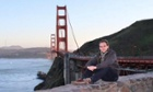 A Facebook photograph of Andreas Lubitz in front of the Golden Gate bridge.