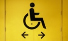 Disabled sign for toilet