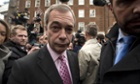 Nigel Farage announcing his party's key election pledges in central London