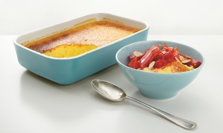 Thomasina Miers' baked custard with orange-roasted rhubarb: 'A sensational pudding.'