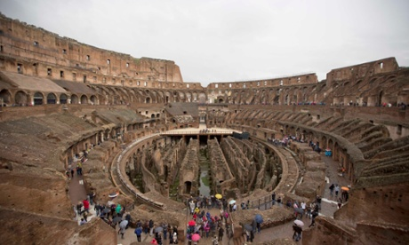 US tourists caught carving names into Rome's Colosseum