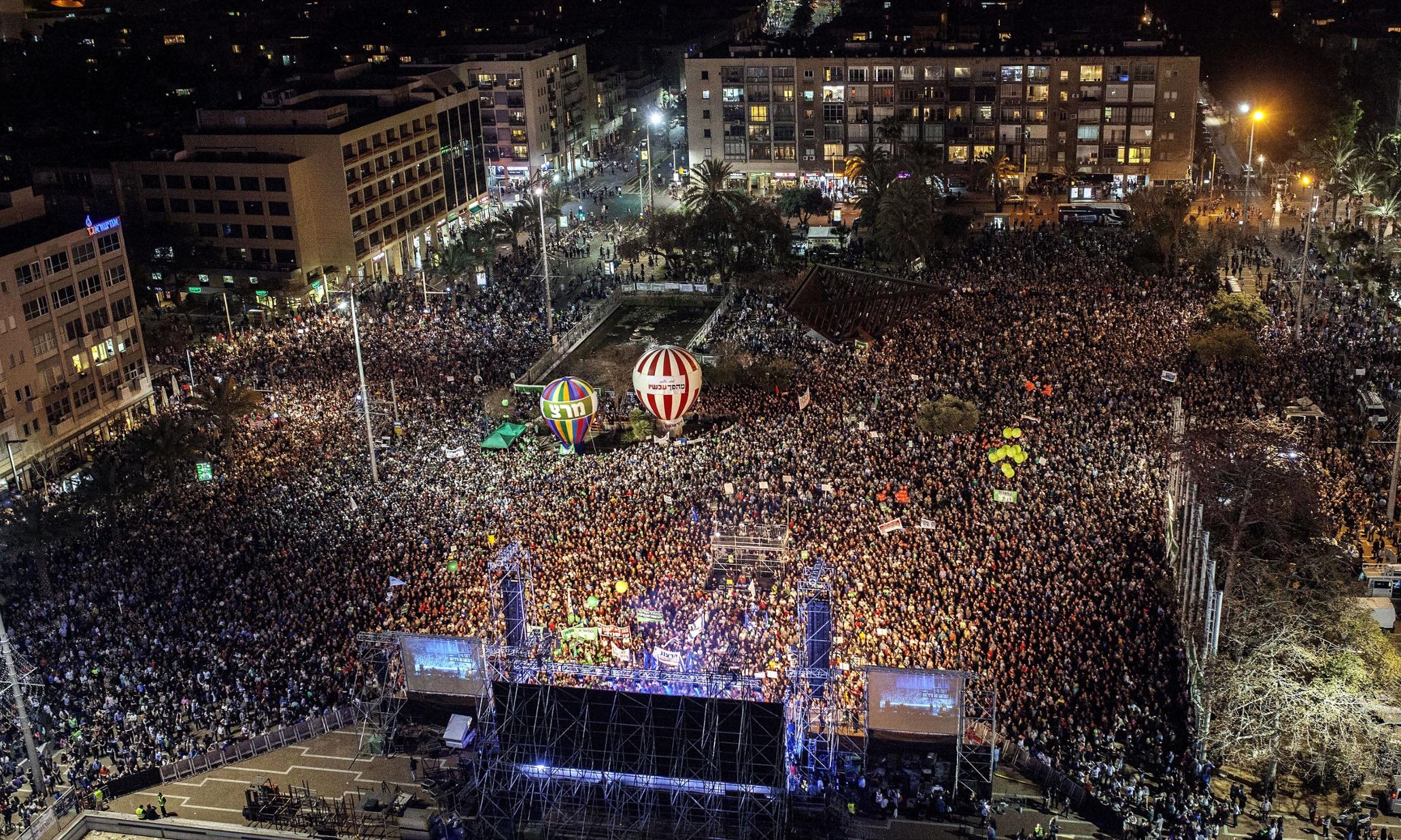 Israeli mass rally calls for replacement of Binyamin Netanyahu