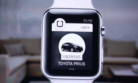 The Uber app on the Apple Watch.