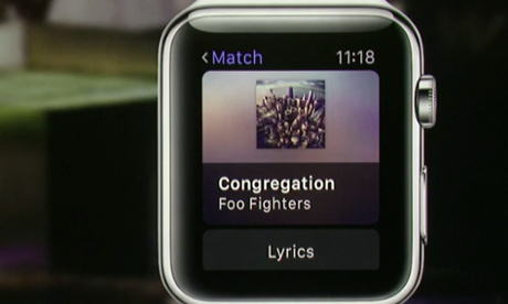 Foo Fighters na Apple Watch.